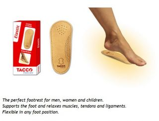 Tacco Elastic 650 Arch Support Insoles Men Women Any Sz