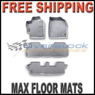11 2012 Toyota Sienna Maxfloormat Floor Mats Full Set 3 Rows Gray Grey