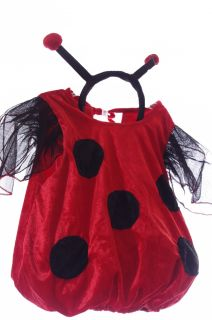 Baby Girls Infant Toddler Ladybug Red Halloween Costume Antennas Lady Bug New