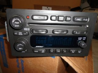 03 06 GM Trailblazer Envoy Rainier Radio 6 CD Player Bose Disc Changer 2005