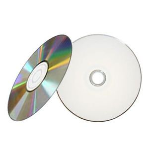 100 52x White Inkjet Hub Printable Blank CD R CDR Recordable Disc Media 700MB