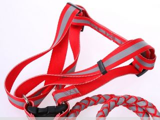 New Reflective Rope Dog Pet Harness Plus Leashes Dog Harness Leashes Sz s M L