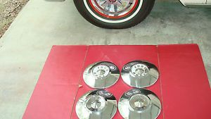 1956 1955 Ford Poverty Dog Dish Hubcaps
