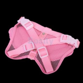 Pink Angel Wings Pet Puppy Dog Leashes Adjustable Dog Walking Harness Size S