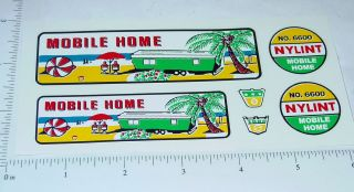 Nylint 6600 Mobile Home Truck Trailer Decals