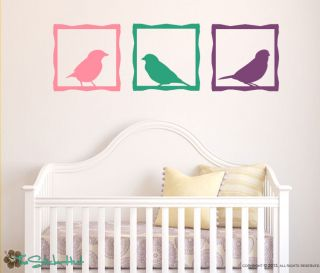 Bird Frames Panels Squares Vinyl Wall Decor Art Graphic Decals Stickers 1456
