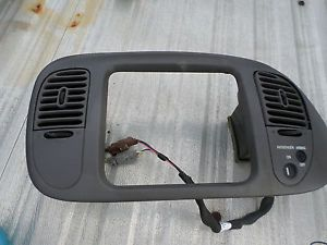 Ford F150 97 03 Expedition Radio Climate Trim Bezel Dash Gray Panel Air Bag