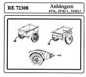 1 72 Attack WWII Three German Trailers re 72308