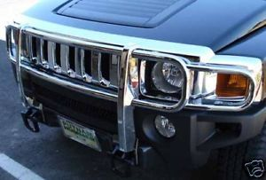 Hummer H3 H3T Full Polished Stainless Brush Grill Guard