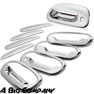 97 03 Ford F150 Pickup Truck Mirror Chrome Door Handle Tailgate Cover Set w PSKH