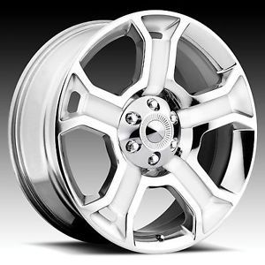 "4 Set 22"" Brand New Ford F150 Harley Replica Wheels Rims 3750 Chrome 5 Spoke"