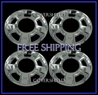 "4 PC Ford F150 17"" Chrome Skins Hub Caps Rim Covers Fits 5 Spoke Aluminum Wheel"