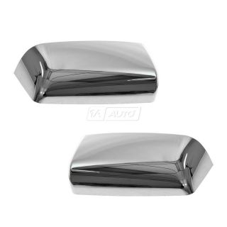 Chrome Tow Mirror Cap Cover Upgrade Left and Right Pair Set for Ford Truck F150