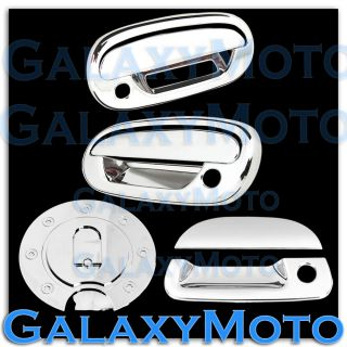 97 03 Ford F150 Triple Chrome 2 Door Handle Keypad w PSG KH Tailgate Gas Cover
