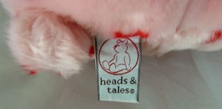 Gund Heads Tales Pink Valentine Teddy Bear Red Hearts Plush