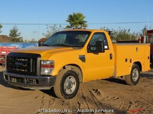 2008 Ford F250 Utility Service Truck 8' Bed 5 4L 300HP Auto 4 Speed Cold A C