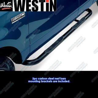 Westin 04 08 Ford F150 Super Cab Black Nerf Bars