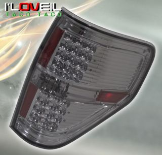 2009 2011 Ford F150 Truck LED Smoked Lens Chrome Tail Lights Rear Brake Lamps