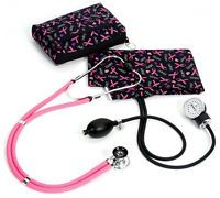 Premium Aneroid Sphygmomanometer Sprague Kit Carrying Case Hope Pink Ribbons