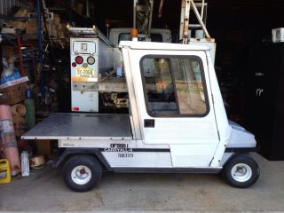 1999 Clubcar Club Car Carryall II Gas Golf Cart Utility Vehicle Cab Bed Runs