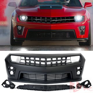 10 13 Chevy Camaro Front Bumper Cover ZL1 Style Daytime Light Lamp Chrome Strip
