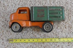 Vintage 1950's Pressed Steel Tonka Utility Stake Bed Truck Mound Metalcraft Minn