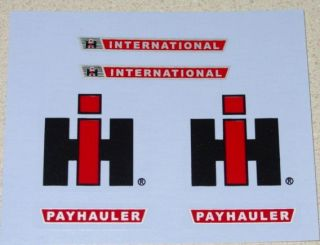 Ertl International Harvester Payhauler Truck Decals