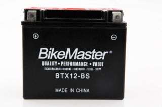 10 12 Polaris Ranger RZR 170 Bikemaster Maintenance Free Battery BTX12 BS
