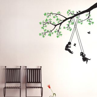 Tree Swing Kids Wall Stickers Vinyl Decals Nursery