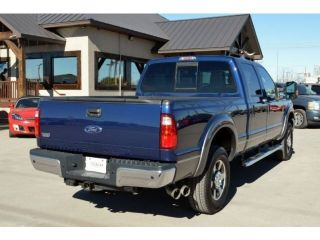 4x4 Crew Cab Diesel CD Leather Lariat Super Duty Blue Long Bed Wood Grain Heated