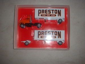 Winross Preston Trucking 151 Line Ford Tractor Pup Trailers 1 64 Scale