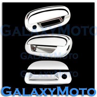 97 03 Ford F150 Triple Chrome 2 Door Handle Keypad No PSG KH Tailgate Cover