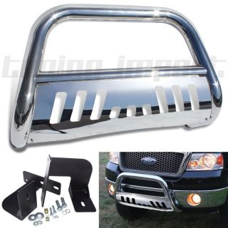 Ford F150 F250 Supercrew Pickup Truck Front Chrome Bull Bar Push Guard Grille SS