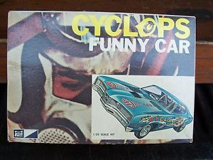 Vintage MPC Cyclops Mercury Funny Car Model Car Parts Box