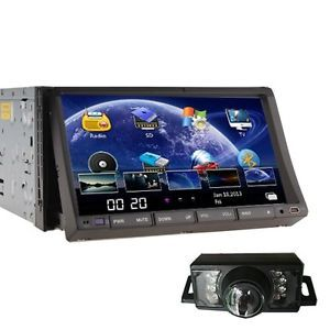 "Dual Zone HD 7"" 2 DIN Car Stereo DVD Player with GPS System Radio Bluetooth Cam"