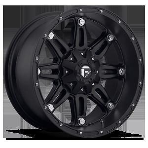 "17"" Fuel Hostage Black Wheels 6x5 5 6x135 Chevy Ford Toyo AT2 Tires Package"
