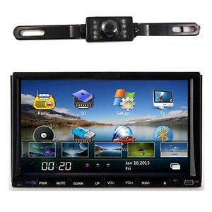 "HD Touch Screen 2 DIN 7""Car Radio DVD Player GPS Navigation Bluetooth Map Camera"