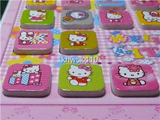 A Set of 18 Fridge Magnets of Hello Kitty Memo White Board w Pen and Eraser