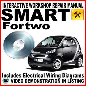 Smart Fortwo Workshop Service Maintenance Repair Manual on Disc for Two