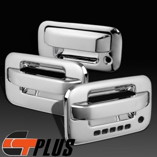 2004 2011 Ford F150 Crew Cab Triple Chrome 2 Door Handle Tailgate Cover Trim