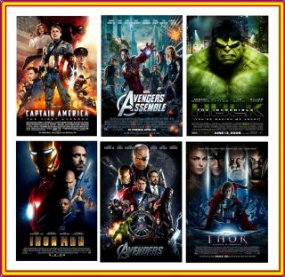 Avengers Assemble Set Comic Book Heroes