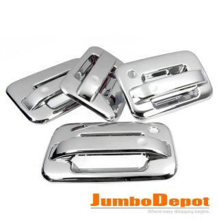 Triple Chrome Door Handle Cover Trims Set for Ford F150 04 05 06 07 08 09 10