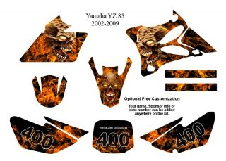 Yamaha YZ 85 MX Bike Decal Graphics Kit Zombie 9500N