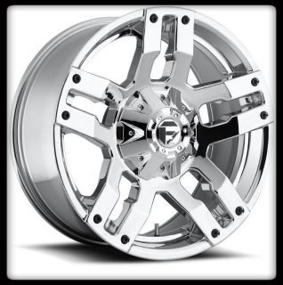"18"" Fuel D514 Pump Chrome Rims Toyo 35x12 50X18LT Open Country MT Tires Wheels"