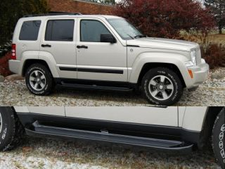 Custom Molded Running Boards 2008 2012 Jeep Liberty Black Factory Style Steps
