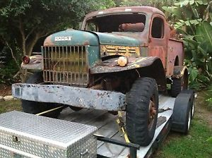 1953 Dodge Power Wagon Project Runs Flat 6 Engine 4WD Firetruck Bed