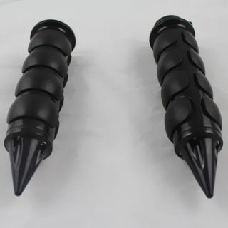 "1"" Black Rubber Nonslip Handgrip for Honda Shadow Aero Phantom Sabre Rebel VTX"