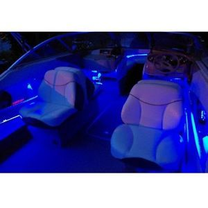 Marine Waterproof LED Boat Lights Interior 8 Piece Kit Universal Blue