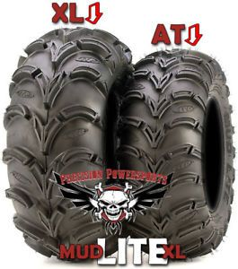 "30"" ITP Mud Lite XXL Tires on 14"" SS STI Wheels Kit 4 Any ATV Honda Yamaha More"