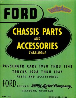Ford Parts Manual Book Car Truck Replacement Catalog Accessories Chassis Motor